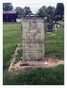 Susan Putnam Newton Tombstone in Harmar Cemetery