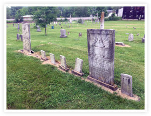 Two wives and 5 children at Harmar Cemetery