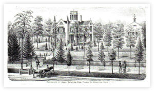 Castle 1875 Atlas Lithograph