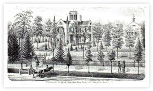 Castle 1875 Atlas Lithograph