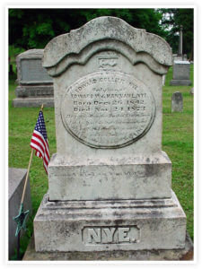 Edward Collier Nye Tombstone