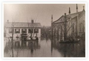 Flood of Davis House on 2nd Street