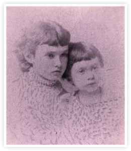 Jessie, Grace Davis as children