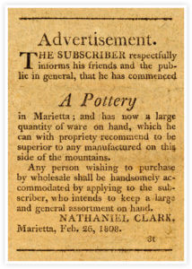 Clark Pottery Advertisement