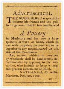 Clark Pottery Advertisement