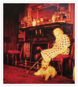 Jessie Davis Lindsay with Dog