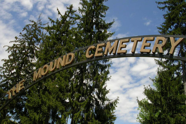 Mound Cemetery entrance