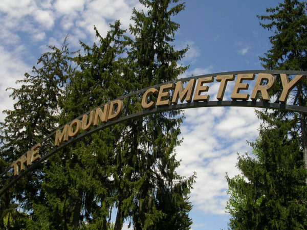 Mound Cemetery entrance